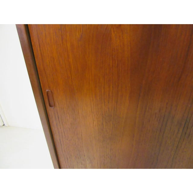 Wood Mid-Century Danish Modern Teak Wardrobe / Armoire For Sale - Image 7 of 11