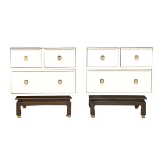 Mid Century Lacquered Nightstands by American of Martinsville-a Pair For Sale