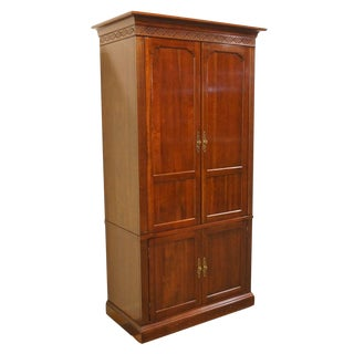 20th Century Traditional Knob Creek Solid Cherry TV Armoire For Sale