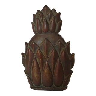 Vintage Virginia Metalcrafters Hollywood Regency Brass Pineapple Door Knocker For Sale