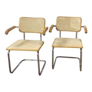 Pair Mid Century Italian Breuer Style Chairs