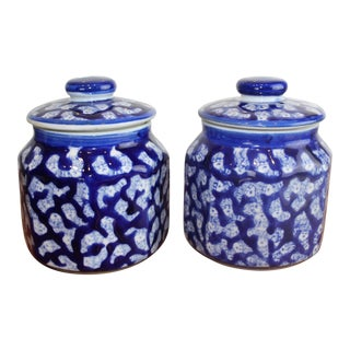 Chinese Lidded Jars - a Pair For Sale