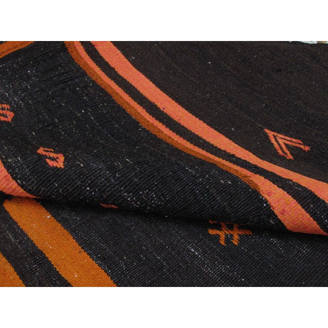 Animal Skin Two-Panel Kilim with Stripes For Sale - Image 7 of 9