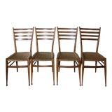 Image of Mid Century Modern Gio Ponti Dining Chair Set- 4 Pieces For Sale