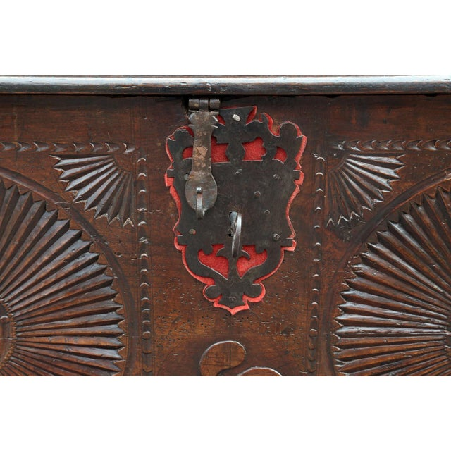 Baroque 18th Century Carved Spanish Chest For Sale - Image 3 of 10