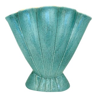 Mid-Century Turquoise Vase by Red Wing Pottery, 1950s For Sale