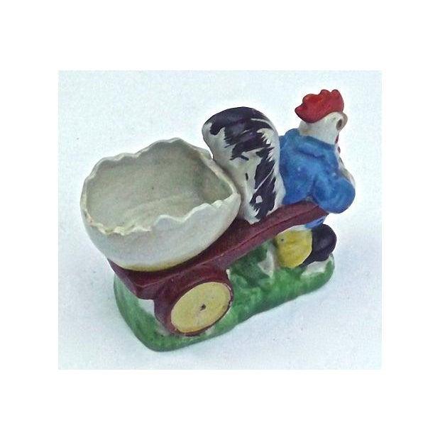 Vintage Porcelain Chicken & Cart Egg Cup - Image 4 of 5