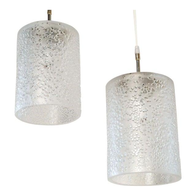 Pair of Mid-Century Swedish Pendants For Sale