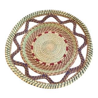 Vintage Hand-Made Woven Wedding Basket For Sale