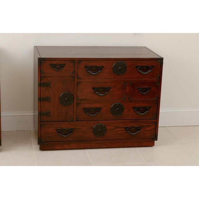 1970s Amazing Pair of Vintage Modern Tansu Chests by Baker For Sale - Image 5 of 10