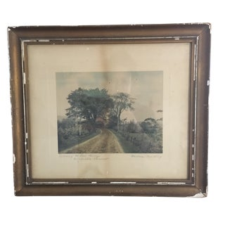 """Early 20th Century Antique Wallace Nutting """"Entering the Old Bridge"""" Framed Photograph For Sale"""