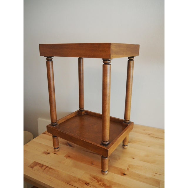 Ethan Allen Handled Side Table - Image 2 of 6