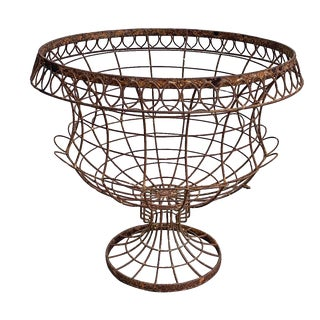 Sculptural Wire Garden Urn For Sale