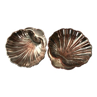 Silverplate Shell Dishes - A Pair For Sale