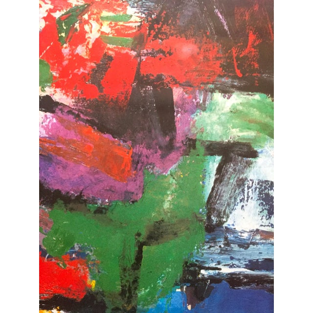 """Franz Kline Rare Vintage 1987 Abstract Expressionist Lithograph Print """" Pafinvest Studio Marconi """" Italian Exhibition Poster For Sale In Kansas City - Image 6 of 13"""