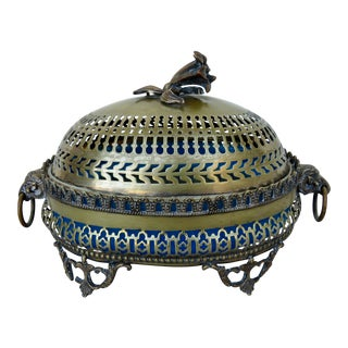 Antique 19th Century French Brass Butter Dish For Sale