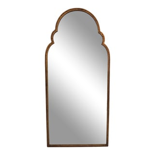 Metal Framed, Rounded Arched Topped Mirror, Mid-Century For Sale