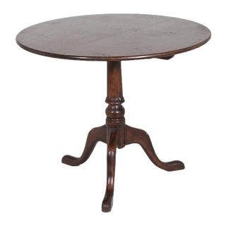 1770s Georgian English Mahogany Tilt Top Table For Sale