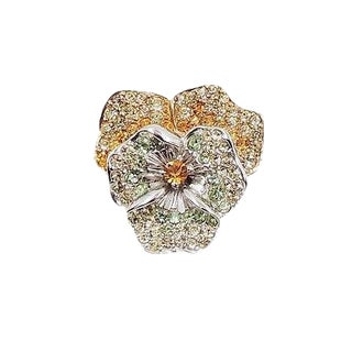 Boucher Pavé Rhinestone Pansy Brooch, 1956 For Sale