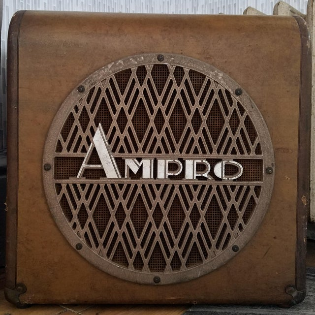1940s Ampro Speaker and Cabinet For Sale - Image 5 of 5