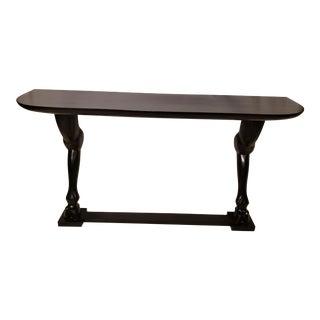 Figurative Noir Horse Leg Console Table For Sale