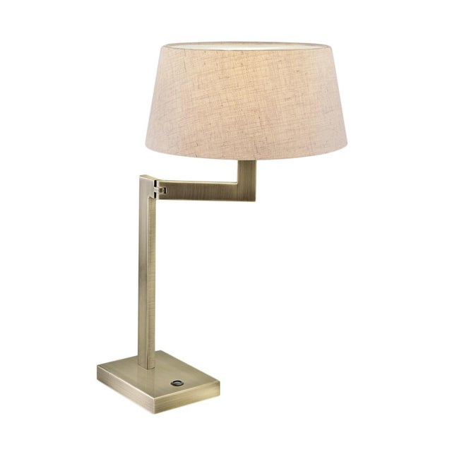 Art Deco Brass Swing Desk Lamp For Sale - Image 3 of 3