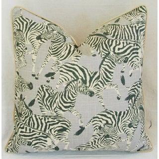 Designer Safari Zebra Linen & Velvet Pillow Preview
