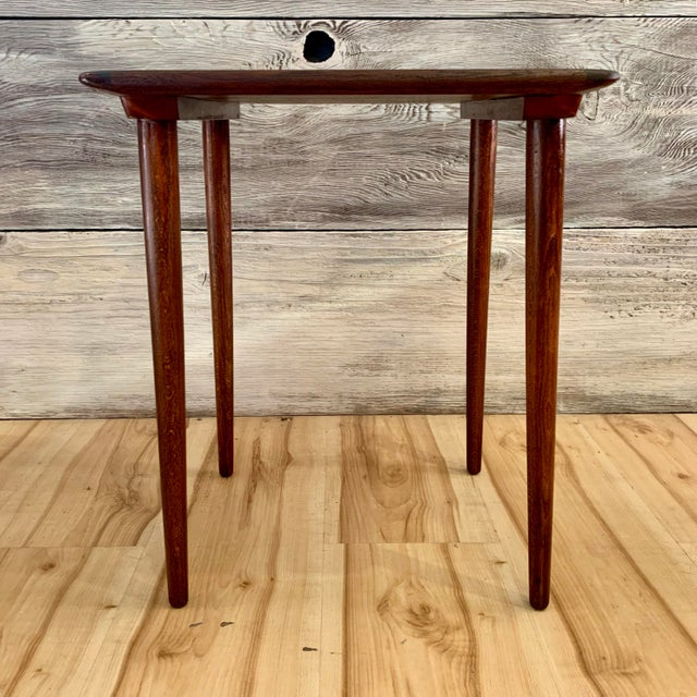 Brown 20th Century Danish Modern Teak Nesting Table's - Set of 3 For Sale - Image 8 of 13