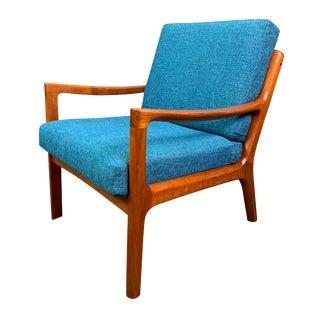 "Vintage Danish Mid Century Modern Teak ""Senator"" Lounge Chair by Ole Wanscher For Sale"