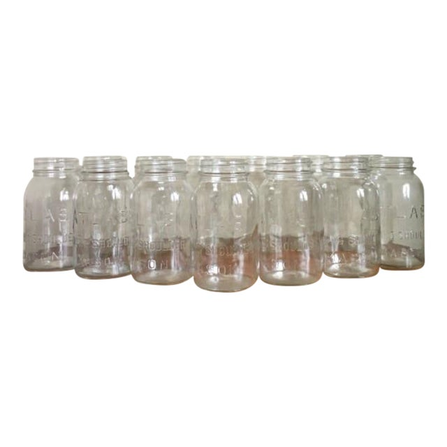 Vintage Atlas Mason Jars - Set of 13 - Image 1 of 4