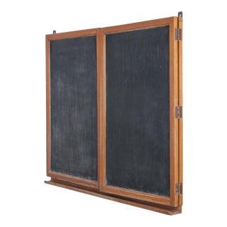 Early 20th Century Antique Hinged Blackboard For Sale