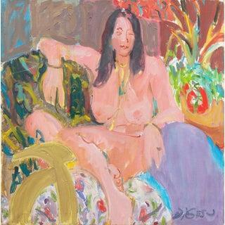 Victor DI Gesu Seated Nude in Interior For Sale