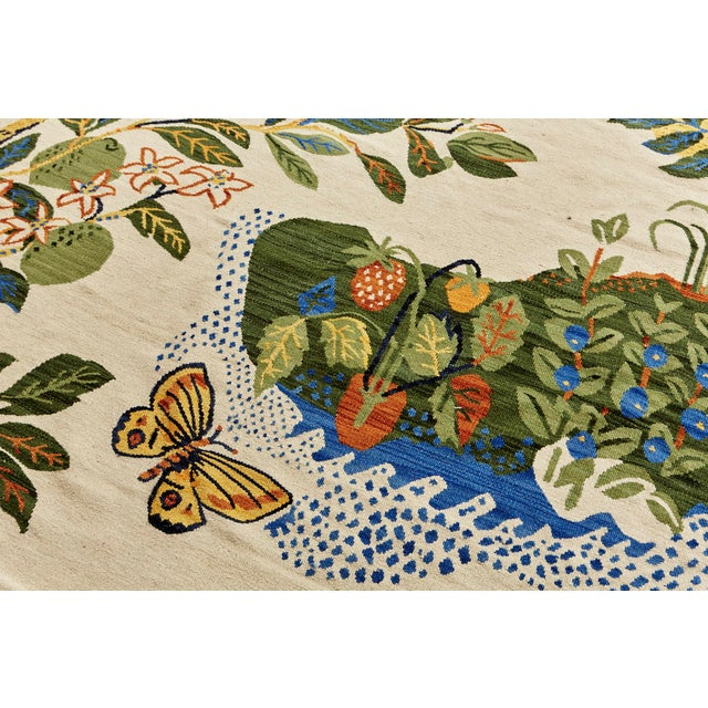Cottage Schumacher Patterson Flynn Martin Citrus Garden Hand-Woven Wool Floral Rug - 9' X 12' For Sale In New York - Image 6 of 10