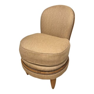 1920s Vintage Hollywood Regency Slipper Chair For Sale