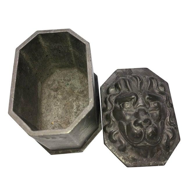 Vintage Lion's Head Box For Sale - Image 4 of 7