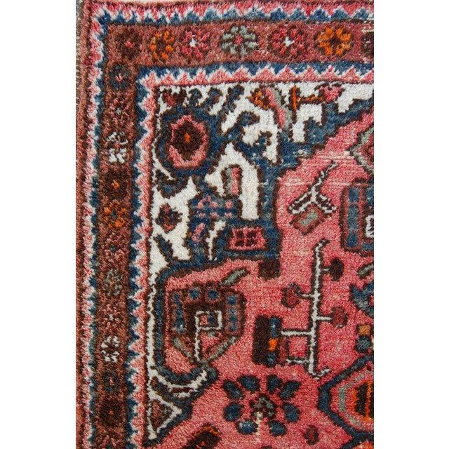 Semi-Antique Persian Kirman Rug - 3′3″ × 6′5″ For Sale In Atlanta - Image 6 of 6