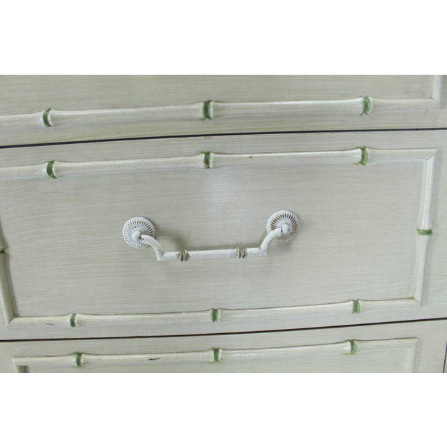 Tall Faux Bamboo Decorated Seven Drawers Lingerie High Chest Dresser For Sale In New York - Image 6 of 9