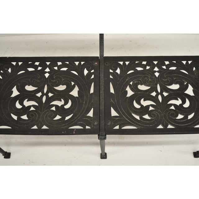 Black 20th Century Neoclassical Style Dolphin Patio Double Settee For Sale - Image 8 of 13