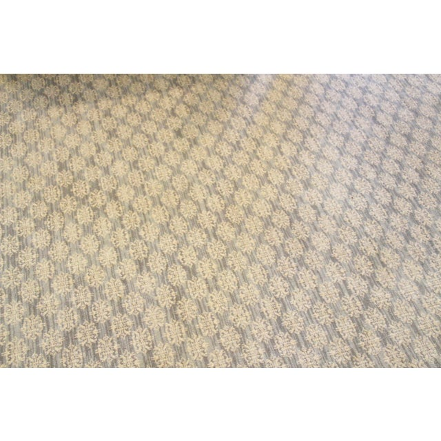 Stark Carpet Contemporary Blue & Cream Rug 16'x16' For Sale