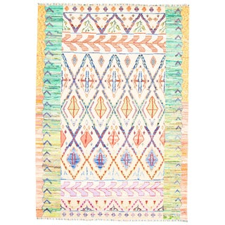 """Moroccan Style Hand-Knotted Rug-8'10"""" X 12'6"""" For Sale"""