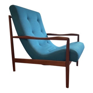 Adrian Pearsall Lounge Chair Model 2218-C Reupholstered For Sale
