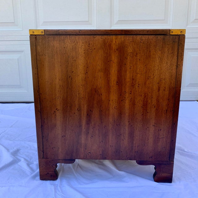 Wood Heritage Mahogany 3 Drawer Chest Side Table For Sale - Image 7 of 10