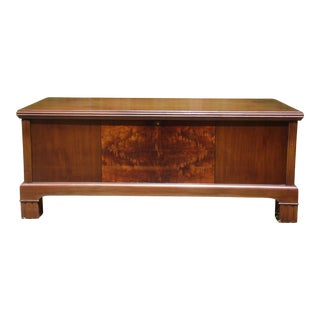 Antique Art Deco Ferguson Brothers Walnut Cedar Hope Chest Storage Trunk Bench For Sale