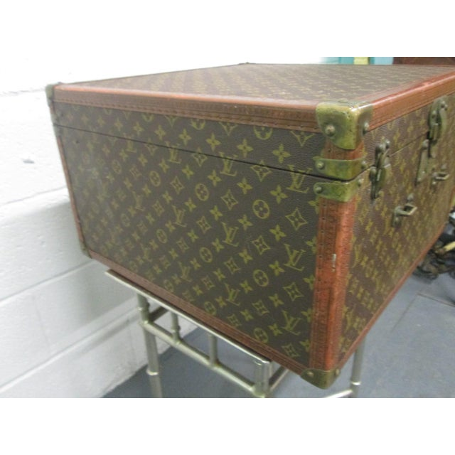 Animal Skin Louis Vuitton Vintage Hat Box For Sale - Image 7 of 10