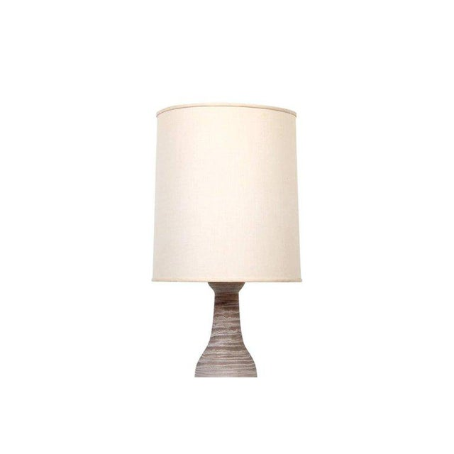 Design Technics Pair of Large Pottery Table Lamps by Design Technics For Sale - Image 4 of 11