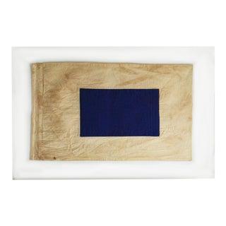 "Framed Signal Flag ""S"" For Sale"