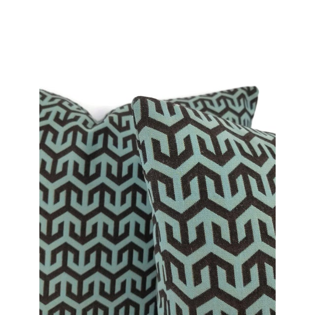 Holly Hunt Holly Hunt Anchors Aweigh Turqs and Caicos Accent Pillow Cover For Sale - Image 4 of 7