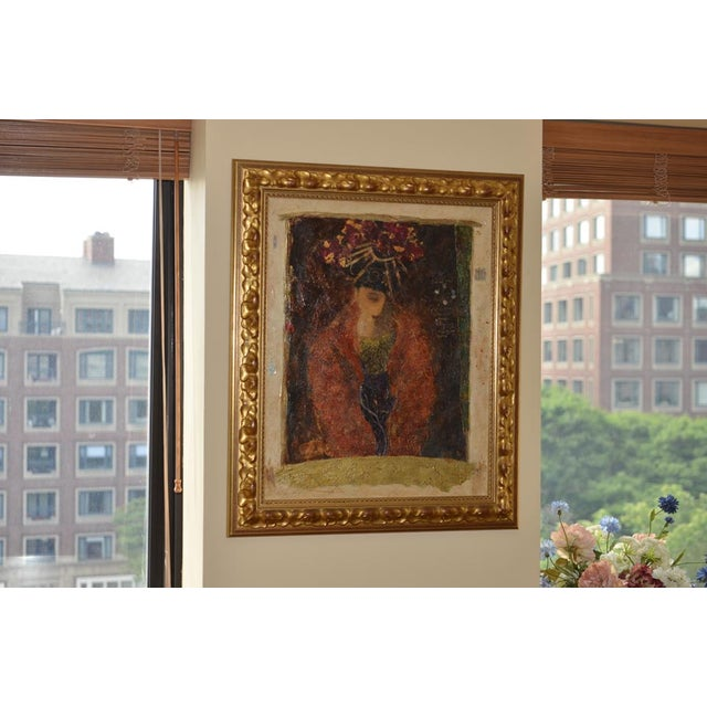 """Roy Fairchild """"Masked Figure"""" Serigraph on Canvas - Image 3 of 10"""