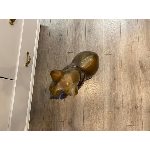Bronze Vintage Bronze Sphynx Cat Figure For Sale - Image 8 of 11