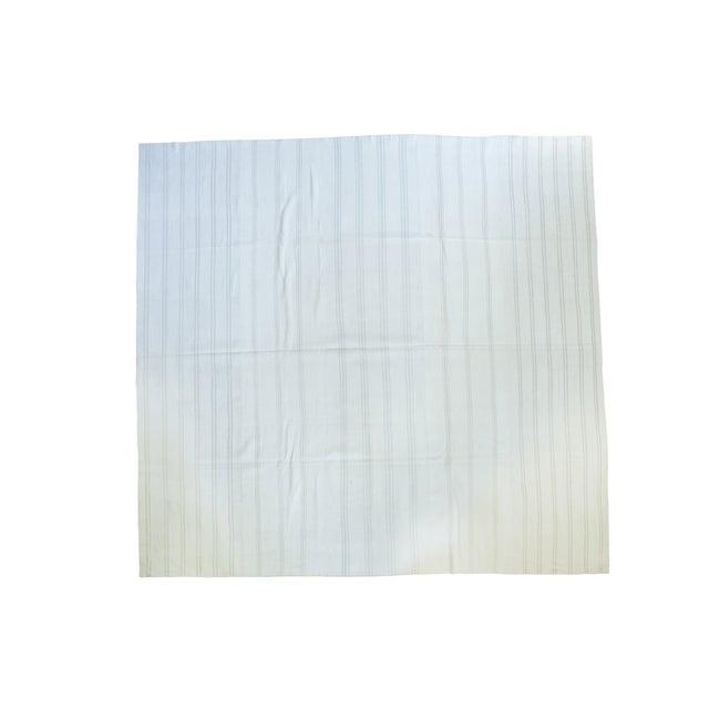 "Vintage Striped Flatwoven Carpet - 10' X 10'6"" - Image 1 of 5"